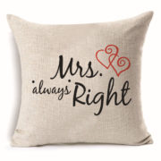 Love Themed Square Cotton Cushion Covers