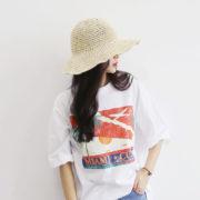 Elegant Summer Women Hats Collapsible Sun Beach Panama Straw hat