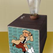 Tintin & Snowy Wooden Box Light